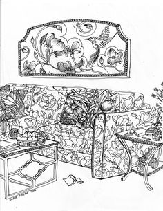 Color Your Best Life : Relaxing Rooms and Soothing Scenes Coloring ...