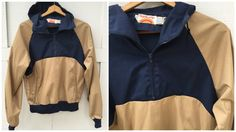 80's Powder Jacket by Sunbuster Tan and Navy by ElkHugsVintage