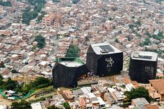 Discover the transformation of Medellin, Colombia. Our daily tours offer travelers a great opportunity to discover Medellin's fascinating history. Giancarlo Mazzanti, Innovative City, Columbia South America, Transformation Pictures, London School Of Economics, Unique Architecture, Library Design, Slums, Most Beautiful Cities