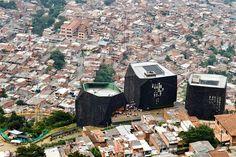 Santo Domingo Library Park in Medellin, Columbia by Giancarlo Mazzanti