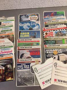 Vintage View-master Reels Lot 190 Slides Disney World Animals Tourist Sites 1958    eBay