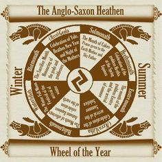 The Northern Grove Anglo-Saxon Heathen Calendar  *NOTE* some have expressed dissatisfaction with the accuracy of this one - if anyone has a better one please link me! If not, we accept it isn't perfect, so please hold your fire :D
