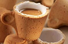 Cookie Cup. Drink the coffee first and then you eat the cup!