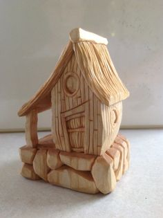 Old home. Hand carved basswood. Mountain cabin. Rustic cottage. Cabin in the woods.