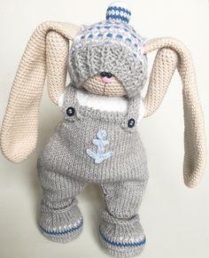 """913 Likes, 68 Comments - Knitting Toys (@olga_toys_handmade) on Instagram: """"Хулиган такойно в то же время очень мягкий и нежный рост зайчика 25см ДОМ НАШЕЛ!"""""""