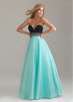This with a white top and navy bottom would be cute for the ball too!