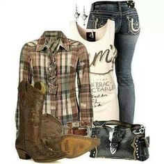 Nice country outfit...not my style of boots