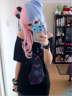 photo, I would never dye my hair these colors, but I love the soft palette.