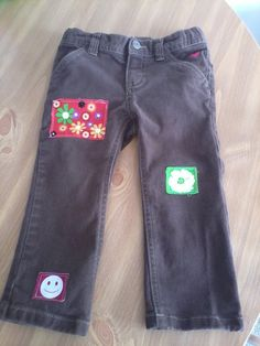 Upcycled Little Girl Hippie Jeans Size 4T via Etsy