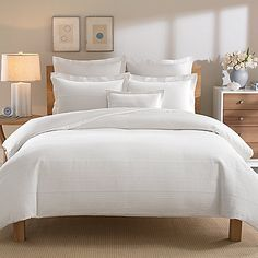 The Linear duvet cover by Real Simple brings clean sophistication and rich texture to your bedroom with a ribbed Matelasse design woven in luxuriously soft 100% cotton.