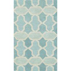 Hand-tufted Tatum Aqua Wool Rug (7'9 x 9'9)   Overstock.com Shopping - The Best Deals on 7x9 - 10x14 Rugs