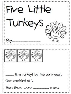 Cute Thanksgiving counting book