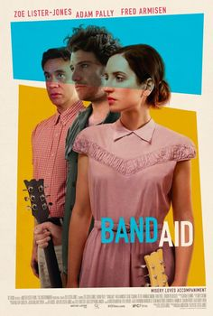 Band Aid Directed by Zoe Lister-Jones. With Zoe Lister-Jones, Adam Pally, Fred Armisen, Susie Essman. A couple who can't stop fighting embark on a last-ditch effort to save their marriage: turning their fights into songs and starting a band. Films Hd, Comedy Movies, Hd Movies, Movies Online, Movie Tv, 2017 Movies, Movies Free, Romance Movies, Watch Movies