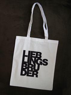 "'Lieblingsbruder' Jutetasche // tote bag ""favourite brother"" by Whatabouttee via dawanda.com"