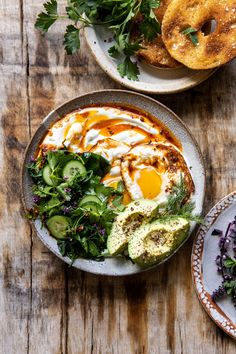 Eggs with Chile Butter and Whipped Feta. Turkish Eggs with Chile Butter and Whipped Feta Turkish Eggs, Mediterranean Diet Meal Plan, Mediterranean Breakfast, Turkish Breakfast, Whipped Feta, Clean Eating, Healthy Eating, Healthy Food, Raw Food