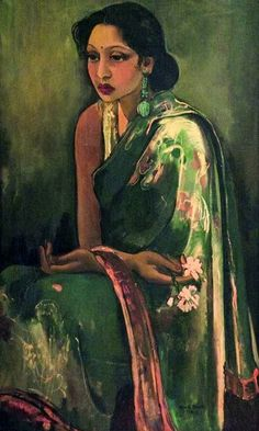 1936 Amrita Sher-Gil (1913~1941 Hungary-India) was an eminent Indian painter (sometimes aka India's Frida Kahlo) was born to a Punjabi Sikh father and a Hungarian-Jewish mother.