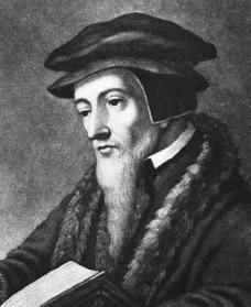 "John Calvin. A prominent and influential 16th century Protestant leader who wrote a book called ""A Response To Questions and Objections of a Certain Jew"". Excerpts include: ""Their [the Jews] rotten and unbending stiffneckedness deserves that they be oppressed unendingly and without measure or end and that they die in their misery without the pity of anyone."""