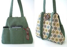 This handmade handbag ,shoulder bag ,can be worn as hobo shape or as tote bag . you can use it as diaper bag, laptop bag , great everyday bag . day to