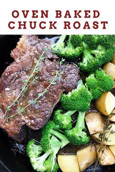Beef Chuck Tender Roast Recipe, Chuck Roast In Oven, Boneless Chuck Roast Recipes, Chuck Steak Recipes, Oven Roast Beef, Beef Chuck Steaks, Baked Roast, Beef Chuck Roast, Roast Beef Recipes