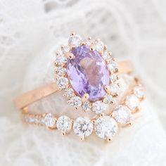 Purple Wedding Rings, Purple Engagement Rings, Amethyst Wedding Rings, Purple Rings, Beautiful Wedding Rings, Alternative Engagement Rings, Amethyst Jewelry, Wedding Bands, Dream Wedding