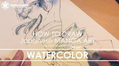 Watercolor painting - Drawing Manga Art 2017.08.08