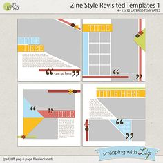 Zine Style Revisited Templates 1