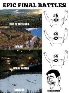 Epic Final Battles: Lord of the Rings vs Narnia vs Harry Potter vs Twilight
