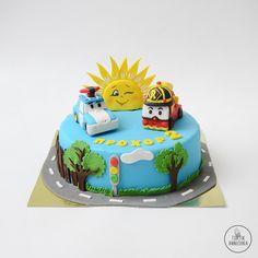 Robocar Poli, Paw Patrol Cake, Nuno, 3rd Birthday, Cake Toppers, Fondant, Cake Decorating, Baking, Fiestas