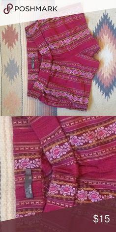 Prana cloth shorts-peruvian pattern w. medium Great comfortable, lightweight pull on shorts Prana Shorts