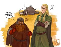 Гимли и Леголас LOTR - it's still count only as one! by the-evil-legacy