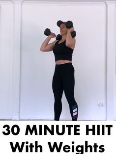 Grab a sets of Dumbbells and hit this full body workout designed to strengthen and tone from head to toe👉 Do this worko Fitness Motivation, Fitness Goals, Fitness Tips, Hiit With Weights, Online Fitness, Hitt Workout, Workout Challenge, Excercise, Biceps