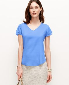 Thumbnail Image of Primary Image of Double Flutter Sleeve Top