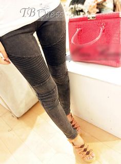 Popular All-matched Slim Split Joint All-matched Leggings Jeans