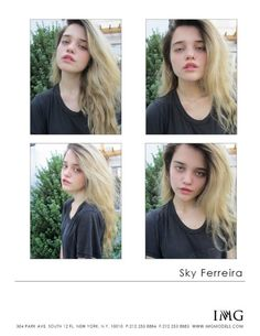 Like I've said before: no makeup=best makeup. And this picture of Sky Ferreira proves it:)
