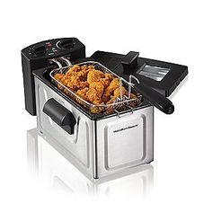 Get restaurant style 'CRISP' in your own home with this Hamilton Beach deep fryer. This 8 cup oil capacity deep fryer makes crisp and succulent fried foods just right.EVERY time! Small Kitchen Appliances, Kitchen Gadgets, Kitchen Items, Cooking Appliances, Kitchen Dining, Kitchen Small, Kitchen Things, Kitchen Decor, Kitchen Stuff