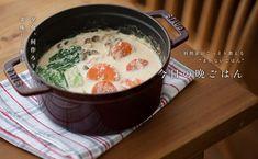 ごま味噌豆乳鍋 Japanese Food, Oatmeal, Cheese, Cooking, Breakfast, Tableware, Ethnic Recipes, Foods, The Oatmeal