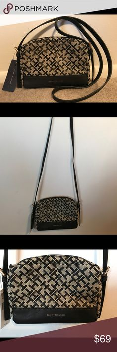 NWT Tommy Hilfiger Crossbody Purse Bag Black Tan NWT Tommy Hilfiger Crossbody Purse. Black and Tan Tommy Hilfiger Bags Crossbody Bags