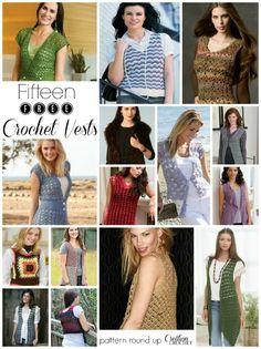 Fifteen FREE Crochet Vest Patterns