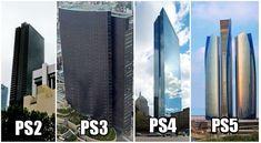 The PlayStation building trend continues! #PS5 #Playstation #Playstation5 Trash Dump, Civil Engineering, Civilization, Skyscraper, Video Games, Multi Story Building, Funny Shit, Funny Stuff, Playstation Consoles