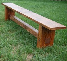 Dad Built This: Farmhouse Bench build! Country Bench, Farmhouse Bench, Rustic Furniture, Diy Furniture, Building Furniture, Modern Furniture, Furniture Design, Furniture Projects, Wood Projects