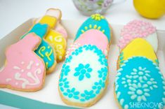 How to make Easter egg and bunny cookies
