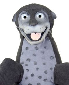 Seal puppet has latex a head, hands and feet This character is able to clap his flippers by pulling the string at the back. This professional latex puppet has a zipper in the back for cleaning or customizing it to make it your own. For more details please visit: www.allpropuppets.com