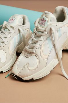 Buy adidas Yung 1 Trainers in Off White / Ice Mint from Official adidas UK Stockists with Express International Shipping Availab Cute Sneakers, Chunky Sneakers, Cute Shoes, Me Too Shoes, Adidas Sneakers, Adidas Originals, Sneakers Fashion, Fashion Shoes, Aesthetic Shoes