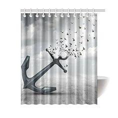Achetez GCKG Nuatical Ocean Anchor Flying Birds Polyester Fabric Shower Curtain Bathroom Sets 60x72 Inches à Walmart Canada. Magasinez plus de Rideaux de douche disponible en ligne à Walmart.ca.