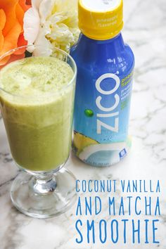 Delicious and easy—just how your mornings should be! This Coconut Vanilla Matcha green smoothie is the perfect blend for breakfast on-the-go. Thanks to @tanyazuckerbrot for this simple recipe made with our ZICO pineapple flavored coconut water.
