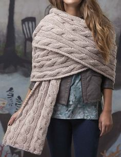 Knitting Pattern for Reversible Cables Super Scarf Cable Knitting, Easy Knitting, Knitting Patterns Free, Finger Knitting, Scarf Patterns, Knitting Tutorials, Knitting Machine, Knit Crochet, Knit Cowl