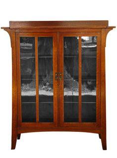 SUPERB Antique LIMBERT 2 Door Bookcase MISSION Oak Stickley Era w1692 | eBay