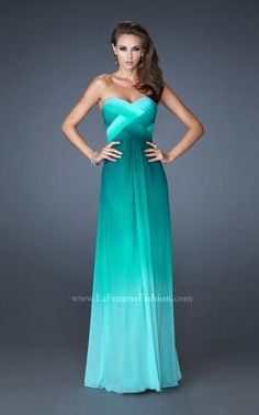 Don't really care for the top, but love the rest. LaFemme Bridesmaid dress Teal/Sea foam 18525