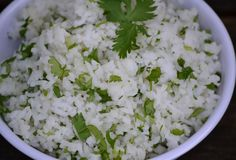 Weight Watchers Cilantro Lime Rice-Just made this to go with the slow cooker Healthy Burrito Bowl recipe. DELICIOUS!