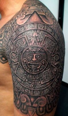 33 Aztec Half Sleeve Tattoos 15 aztec tattoo designs and 125 tribal tattoos for men with meanings & tips wild image detail for aztec tattoos o d tattoodonkey mexican st. Tatuagem Azteca, Trendy Tattoos, Tattoos For Guys, Latest Tattoos, Inka Tattoo, Tattoo Ink, Body Art Tattoos, Sleeve Tattoos, Ship Tattoos